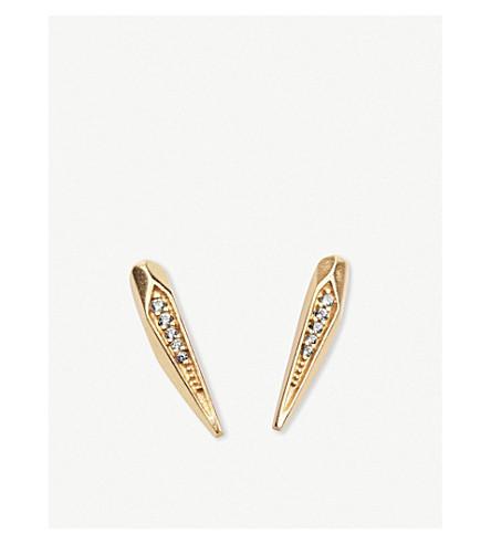 斯科特·蒙哥马利14ct 镀金和立方氧化锆耳环 (金