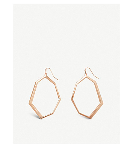 KENDRA SCOTT Lindsey 14ct rose gold-plated drop earrings (Rose+gold
