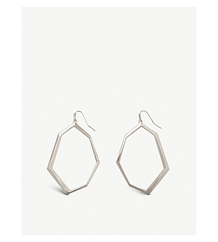 KENDRA SCOTT Lindsey rhodium-plated drop earrings (Rhodium