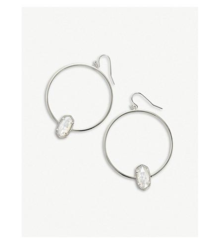 斯科特命名为 elora 银和象牙母珍珠耳环 (铑