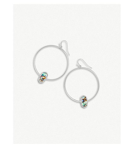 KENDRA SCOTT Elora 14-ct silver-plated Abalone Shell earrings (Abalone