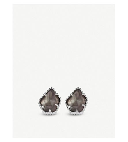 KENDRA SCOTT Tessa rhodium-plated earrings (Black