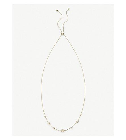 KENDRA SCOTT Alina 14ct-gold and multi gemstone necklace (14k+yellow+gold