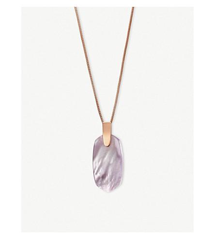KENDRA SCOTT14ct 玫瑰镀金和丁香珍珠母项链 (玫瑰 + 黄金