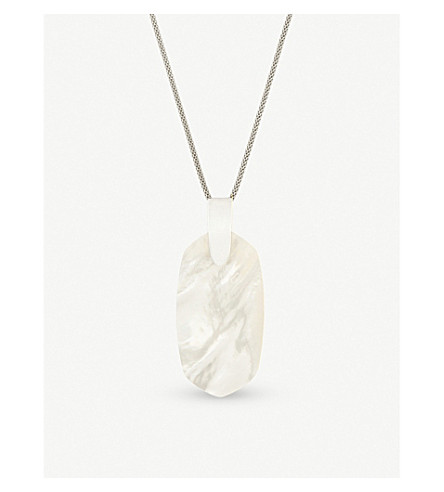 KENDRA SCOTT Inez silver-plated and ivory mother-of-pearl necklace (Ivory
