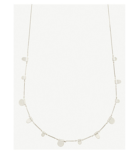 KENDRA SCOTT Olive tabs silver-toned necklace (Bright+silver
