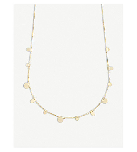 KENDRA SCOTT Olive tab 14ct gold-plated necklace (Gold