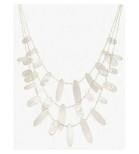 KENDRA SCOTT Nettie hammered tab silver-plated necklace (Bright+silver