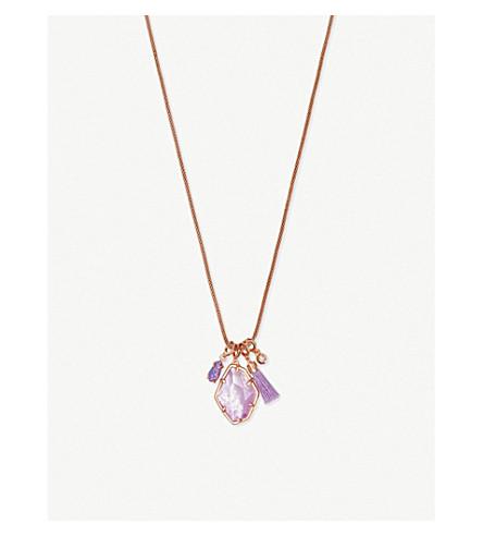 斯科特海莉14ct 玫瑰镀金和丁香珍珠母项链 (玫瑰 + 黄金