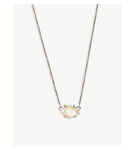 KENDRA SCOTT Ethan mother-of-pearl necklace (Rhodium