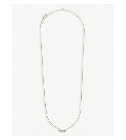 KENDRA SCOTT Katy 14ct yellow-gold and diamond necklace (14k+yellow+gold