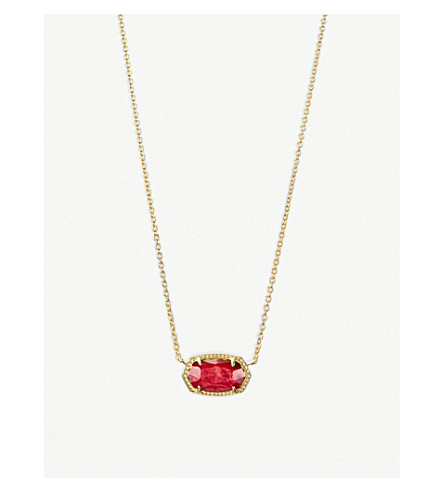 KENDRA SCOTT Elisa 14ct gold-plated necklace (Gold