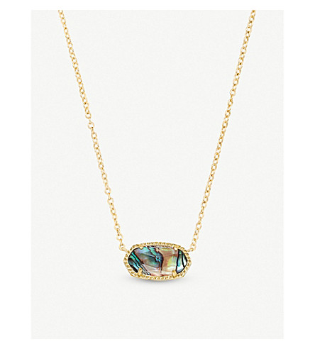 KENDRA SCOTT Kendra Scott 14ct gold-plated abalone shell necklace (Abalone
