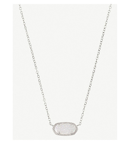 KENDRA SCOTT Elisa 14ct gold-plated iridescent drusy necklace (Iridescent