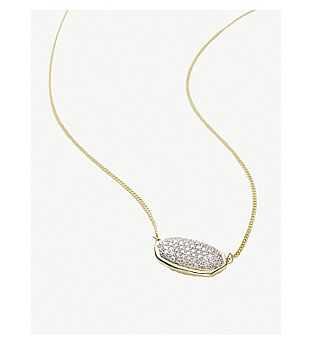 KENDRA SCOTT Elisa 14ct yellow-gold and diamond necklace (Diamond