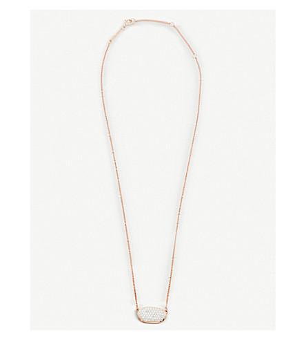KENDRA SCOTT Lisa 14ct gold and pave diamond pendant necklace (Diamond