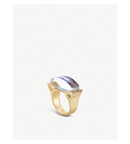 KENDRA SCOTT Jeanne 14ct gold-plated Abalone Shell cocktail ring (Abalone