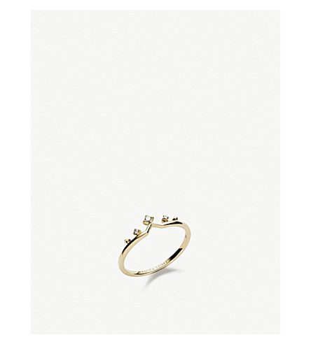 KENDRA SCOTT蜜雪儿14ct 黄金钻石戒指 (14 k + 黄 + 金