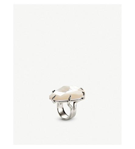 KENDRA SCOTT梅根银色珍珠母环 (铑