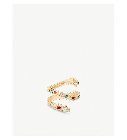 KENDRA SCOTT贝克14ct 镀金黄铜和水晶戒指 (金