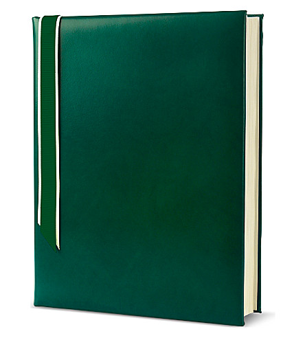 ASPINAL OF LONDON English bridle leather portrait photo album (Smooth+green