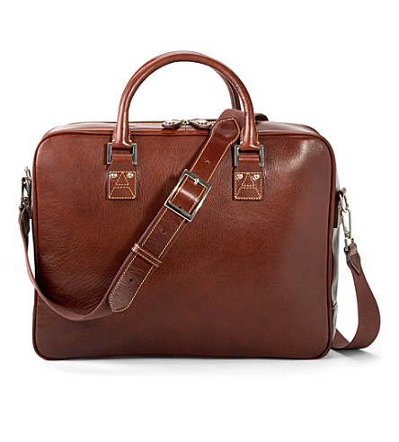 ASPINAL OF LONDON Large mount street bag - cognac & stone (Smooth cognac &stone