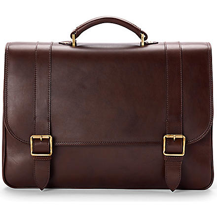 ASPINAL OF LONDON Satchel briefcase (Chocolate