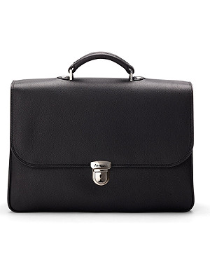 ASPINAL OF LONDON City leather laptop briefcase