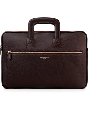 ASPINAL OF LONDON Connaught leather document briefcase