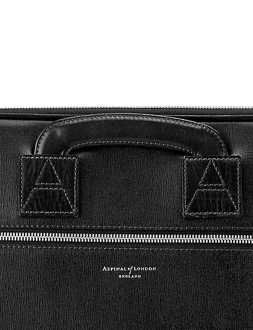 ASPINAL OF LONDON Connaught saffiano leather document case