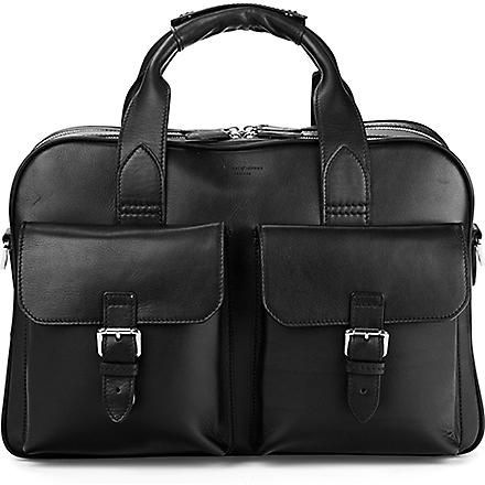 ASPINAL OF LONDON Harrison overnight business bag (Black