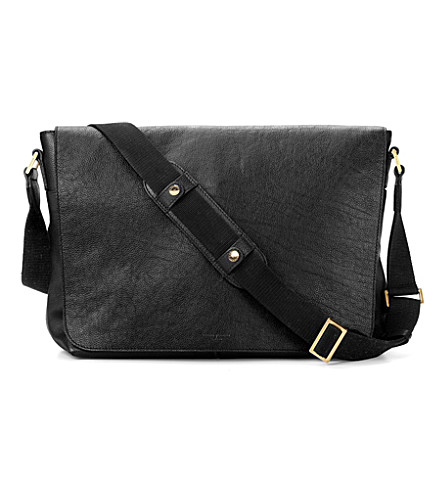 ASPINAL OF LONDON Cassidy leather messenger bag (Black