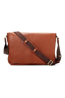 ASPINAL 'W' textured leather messenger bag