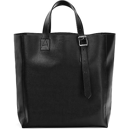 ASPINAL OF LONDON 'A' leather tote bag (Black