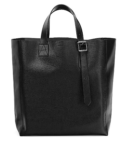 ASPINAL OF LONDON A Tote leather bag (Black