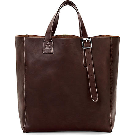 ASPINAL OF LONDON 'A' leather tote bag (Brown