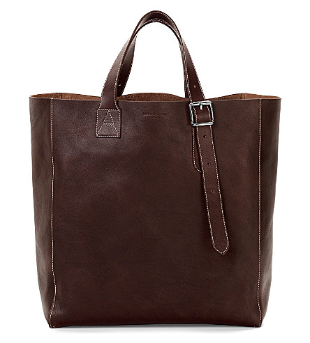 ASPINAL OF LONDON A Tote leather bag (Brown