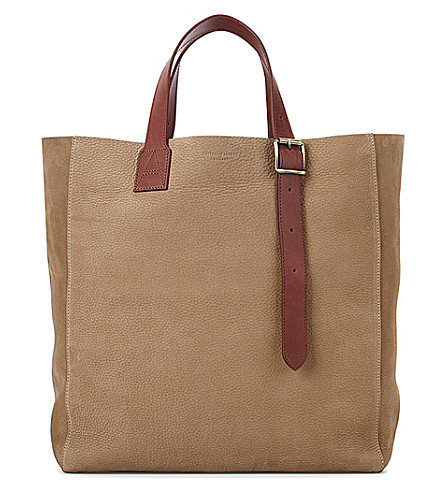 ASPINAL OF LONDON A Tote nubuck leather bag (Tan