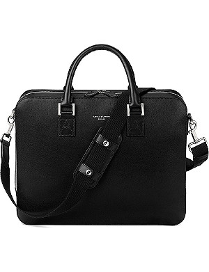 ASPINAL OF LONDON Mount Street large saffiano-leather laptop bag