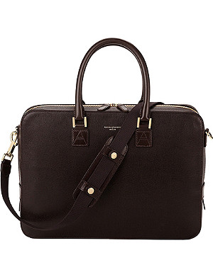 ASPINAL OF LONDON Mount Street small saffiano-leather laptop bag