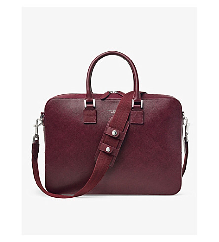 ASPINAL OF LONDON Mount Street saffiano leather bag (Burgundy