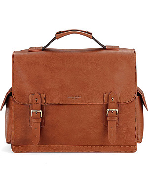 ASPINAL OF LONDON Shadow leather briefcase