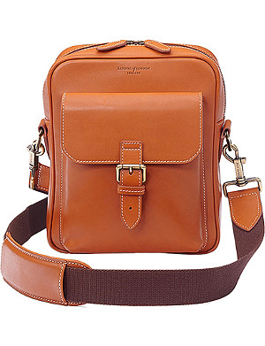 ASPINAL OF LONDON Harrison small leather messenger bag