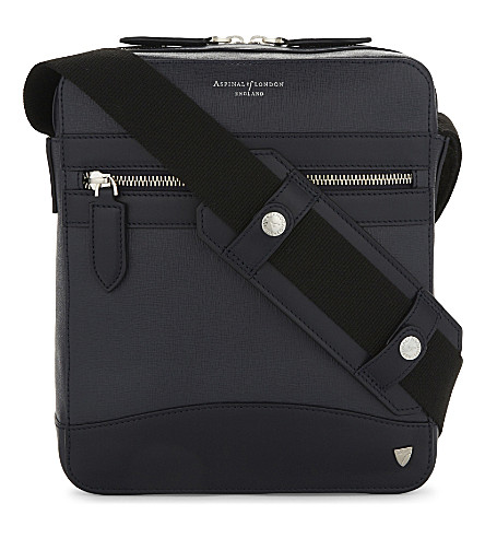 ASPINAL OF LONDON Anderson leather Midi Messenger bag (Black