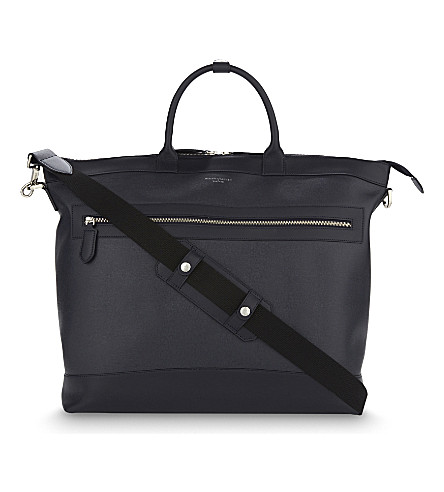 ASPINAL OF LONDON Anderson leather tote bag (Navy