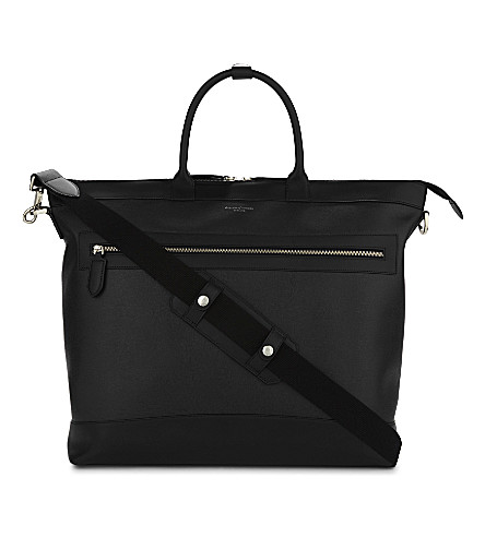 ASPINAL OF LONDON Anderson leather tote bag (Black