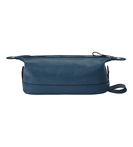 ASPINAL OF LONDON Saffiano leather wash bag (Teal
