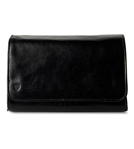 ASPINAL OF LONDON Men's hanging washbag - black ebl (Black