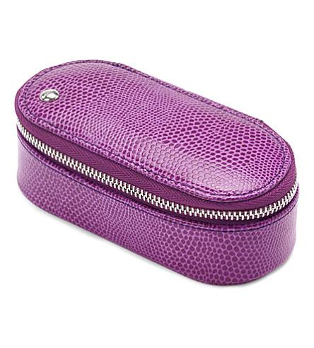 ASPINAL OF LONDON Handbag tidy all violet lizard & cream s (Violet lizard&cream
