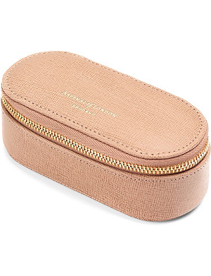 ASPINAL OF LONDON Textured-leather make-up case